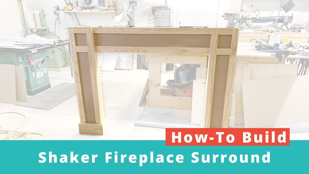 How To Build A Shaker Fireplace Surround Diy Project Woodworking Project Youtube