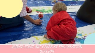 LYRA FIRST ART CLASS AT THE CREATION STATION | THE THOMAS WAY