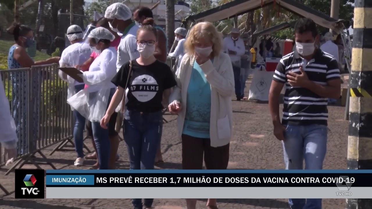 MS Prevê receber 1,7 milhão de doeses da vacina contra covid 19