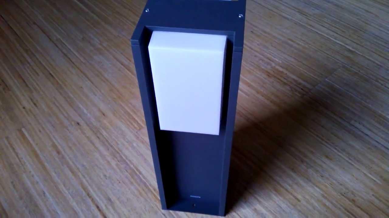 philips ecomoods outdoor lampe au enleuchte pedestal light unboxing youtube. Black Bedroom Furniture Sets. Home Design Ideas