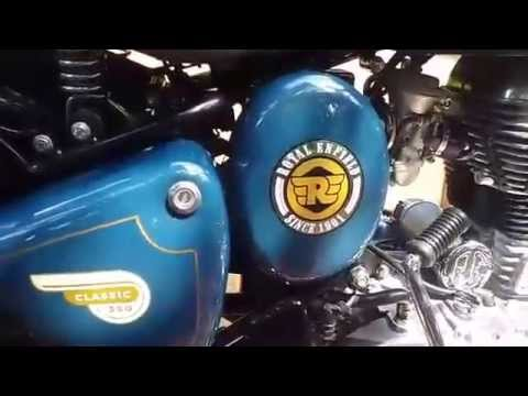 Royal Enfield Classic Lagoon YouTube - Classic motorcycle custom stickers