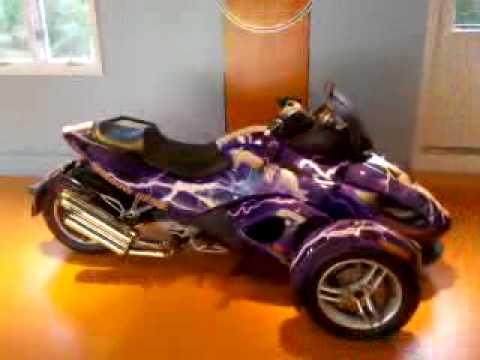 Custom Can Am Spyder Roadster With Window Genie Wrap Youtube