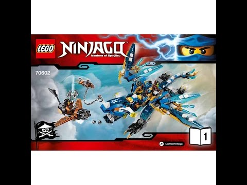 LEGO® Ninjago 70602 Дракон Джея. Инструкция по сборке