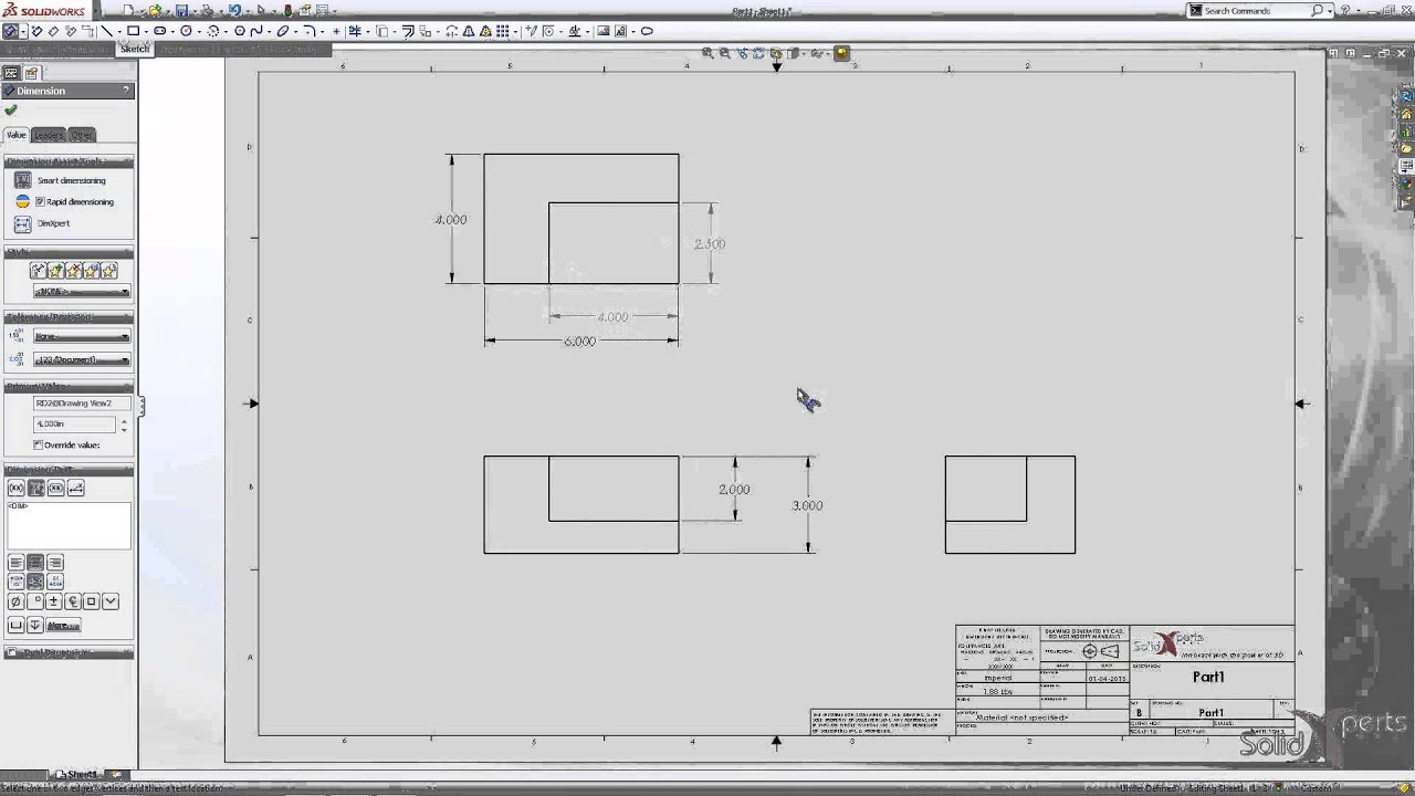 Change the color dimensions in a drawing with solidworks for Solidworks drawing template tutorial