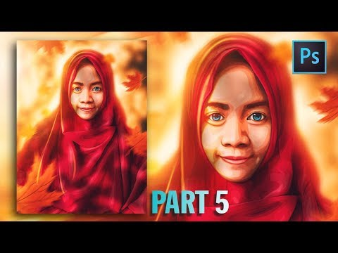 [Photoshop Tutorial] HOW TO CREATE VECTOR/VEXEL HIJAB IN PHOTOSHOP [PART 5- FACE] thumbnail