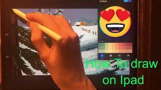 How to Draw Winter Scenery  -  ipad pro 2018 drawing
