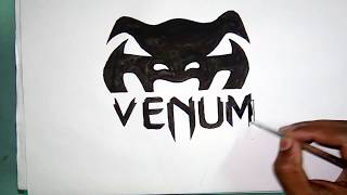How to draw the Venum logo