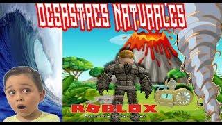 Desastres Naturales en roblox l Roblox Natural Disaster l Juegos Roblox MateoAventuras