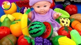 تعليم الاطفال اسماء الفواكه والخضروات  - العاب اطفال