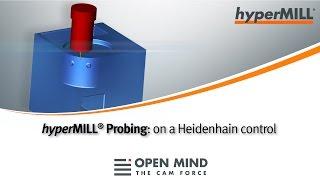 CNC Machining: Probing cycles | HEIDENHAIN | hyperMILL |CAM-Software|