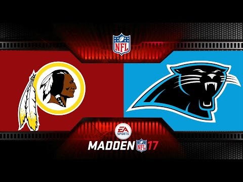 MONDAY NIGHT MADDEN NFL CAROLINA PANTHERS VS WASHINGTON REDSKINS - Monday Night Football MADDEN 17