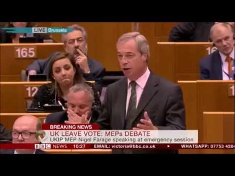 Nigel Farage tells MEPs they are in denial about the EU failing