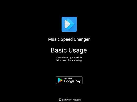 Music Speed Changer Basic Usage Youtube