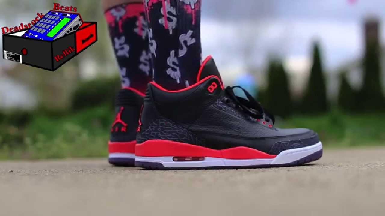 869be215aeaabf Jordan 3 Bright Crimson On Feet April 23