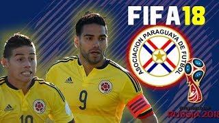 COLOMBIA vs PARAGUAY - FIFA18 :  Narración Colombiana!