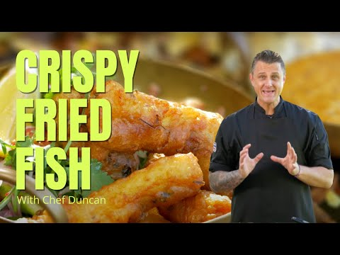 Thai Food Crispy Fried Fish With Chilli Mayonnaise ❤️️