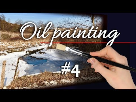 How to paint WINTER – Water, Texture and Contrast. LIVE Oil Painting Tutorial with Zufar Bikbov.