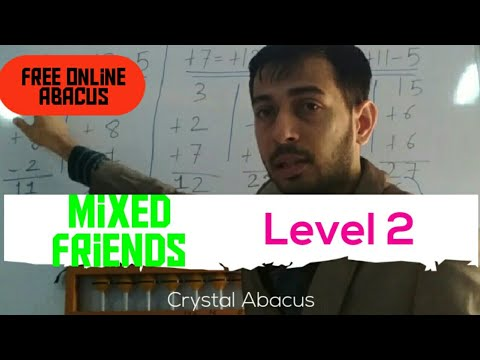 Crystal Abacus Learning#Level 2#Mixed Friends#In Hindi#Free Abacus Training#Abacus Learning
