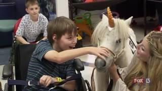 Magic unicorn grants wishes for children at TGH