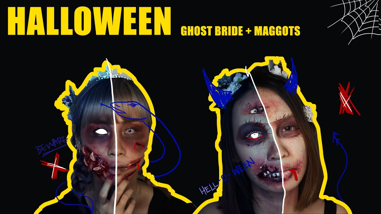 Ghost Bride with Maggots | Halloween ideas |