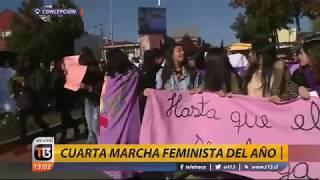 Marcha feminista en Concepción