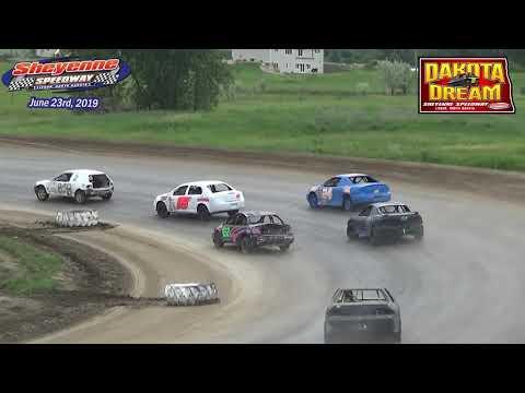 Sheyenne Speedway Mini Stock Heats (2019 Dakota Dream) (6/23/19)