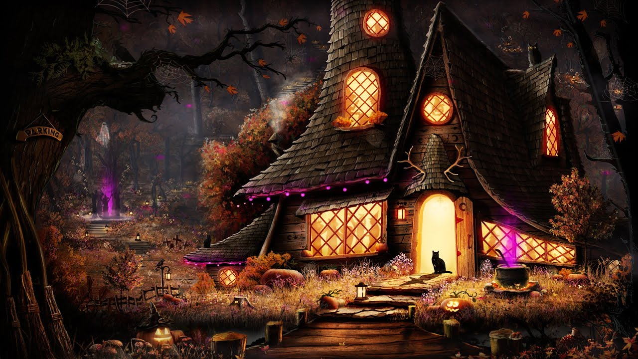 Halloween Party Ambience with Spooky Lofi for Witches + Ambient Halloween Night Sounds