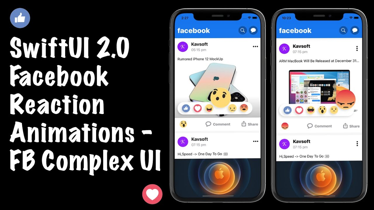 SwiftUI Facebook Reaction Animations - Composing FB Complex UI