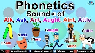 Phonetics Sound Of Alk, Ask, Ant, Aught, Aint, Attle