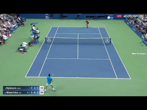 Stan Wawrinka best points aganist Novak Djokovic -  US Open 2016 final