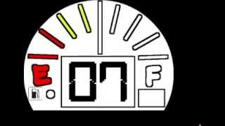 Repeat youtube video 10 minute fuel gauge style countdown clock