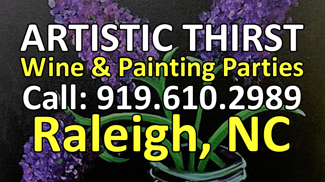 Best wine and painting parties north raleigh artistic for Paint and wine raleigh
