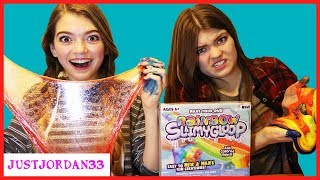 DIY Slime Vs Slime Kit Slime Rainbow Slime Making / JustJordan33