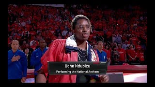 Uche SLAYS National Anthem @ Rockets vs Warriors Playoff Game
