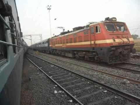 DEPARTING FROM MUGHALSARAI AND CROSSING THE LARGEST RLY YARD OF ASIA!!