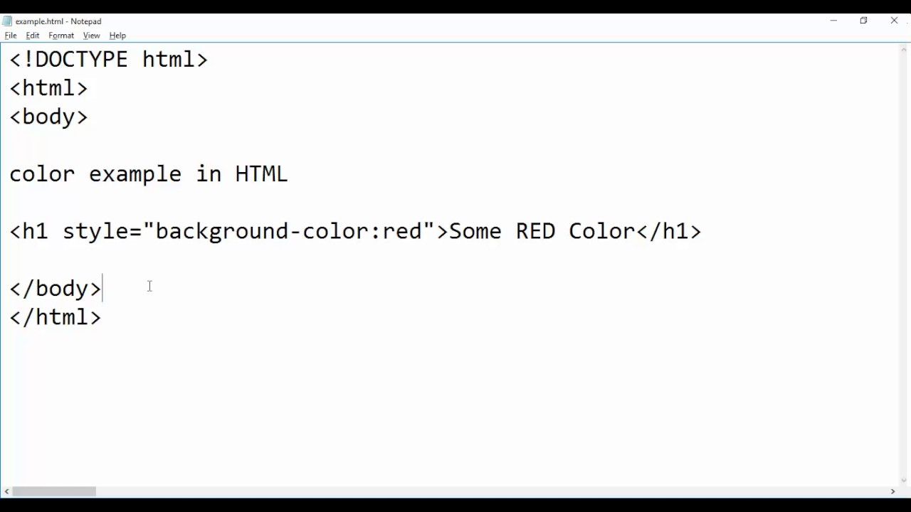 H tag background image - How To Give Color In Html Style Tag