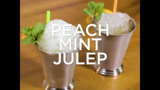 Peach Mint Julep Cocktail Recipe