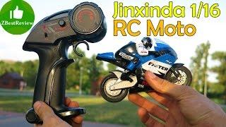 ✔ Jinxinda 1/16 Радиоуправляемый мотоцикл. RC Racing Moto Bike Review. Banggood