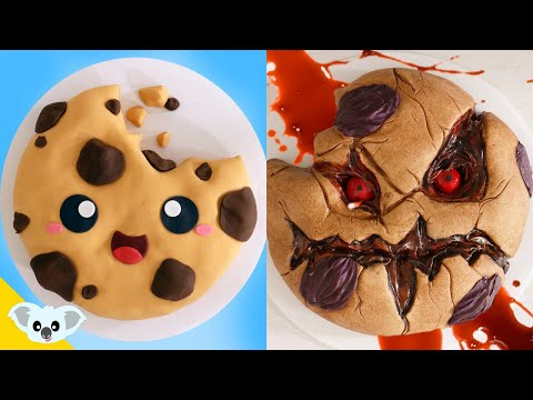 Cute and Scary Cookie Cake |  2 Faced Cake Ideas | Amazing Cakes | Koalipops