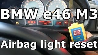 How to reset BMW airbag light yourself with AC808 for under $30! DYI