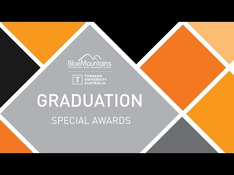 BMIHMS at Torrens Graduation September 2016:  Special Awards