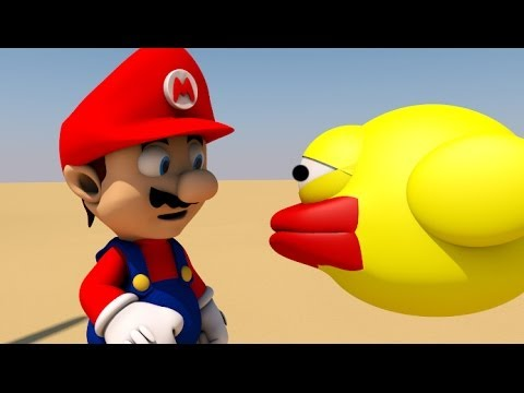 FLAPPY BIRD MEETS MARIO! (3D ANIMATION)