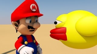 Repeat youtube video FLAPPY BIRD MEETS MARIO! (3D ANIMATION)