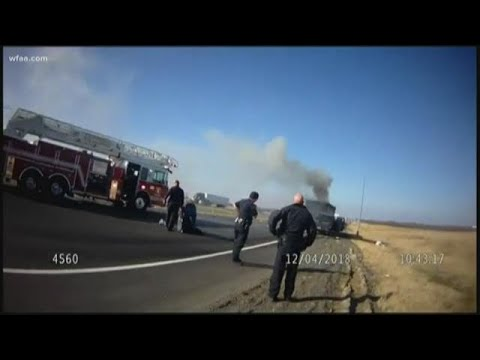 WATCH: Kaufman County deputy saves man from burning truck