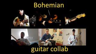 Queen - Bohemian Rhapsody   Guitar cover collab видео