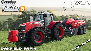 Making silage bales & new harvester | Animals on Oakfield Farm | Farming Simulator 19 | Episode 24