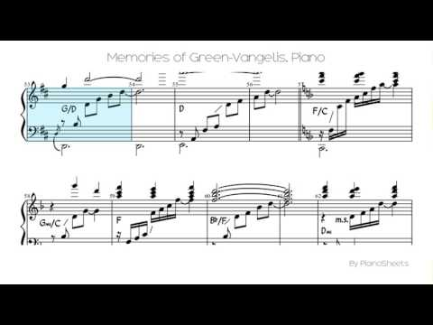 Memories of Green-Vangelis [Piano Solo]