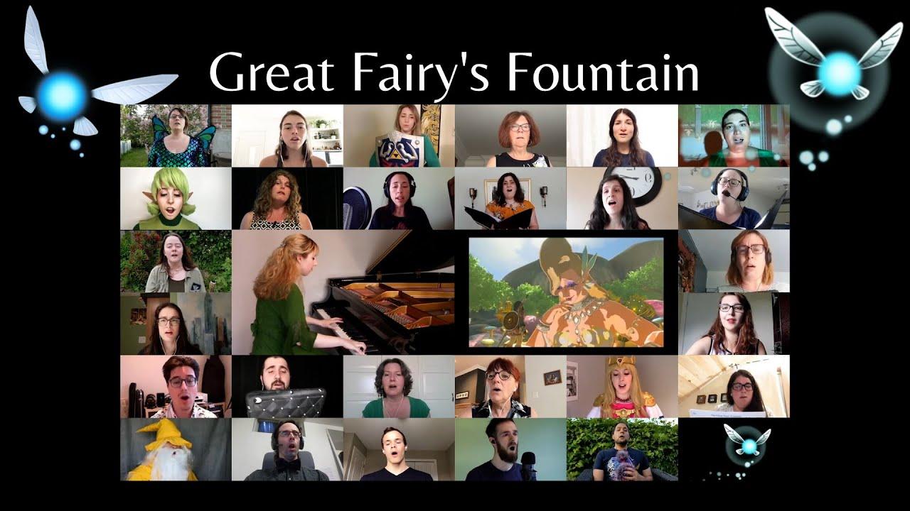 Great Fairy's Fountain - Zelda (Choir & Piano Cover)