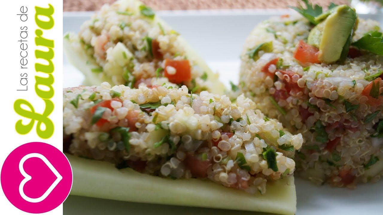 Tabule de Quinoa Comida Saludable Recetas Vegetarianas