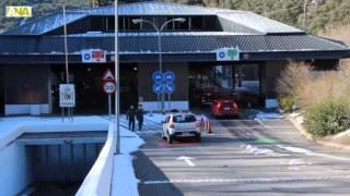 Inauguració doble carril duana de la Farga de Moles